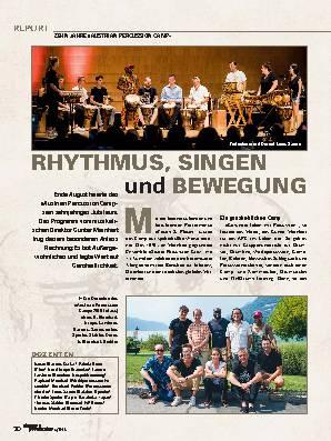 RHYTHMUS, SINGEN und BEWEGUNG