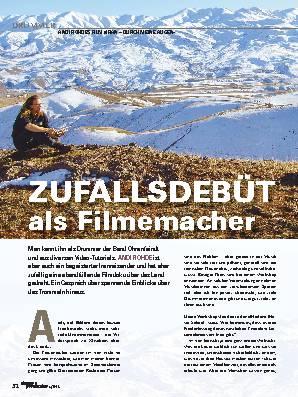 ZUFALLSDEBÜT als Filmemacher