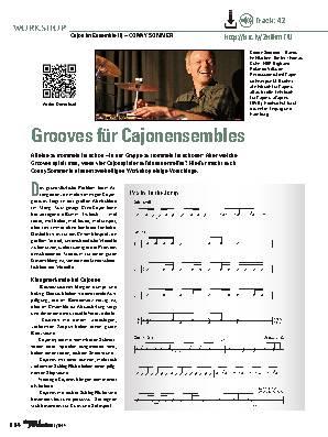 Grooves für Cajonensembles
