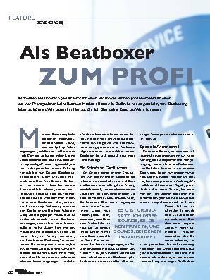 Als Beatboxer  ZUM PROFI