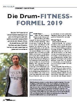 Die Drum-FITNESS-FORMEL 2019