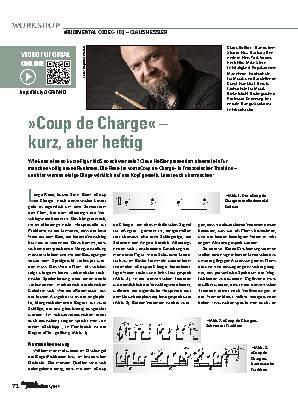 »Coup de Charge«  kurz, aber heftig