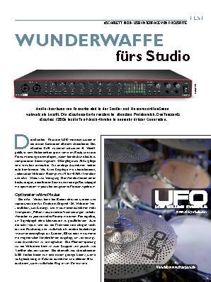 WUNDERWAFFE  fürs Studio