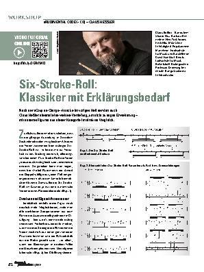 Six-Stroke-Roll: Klassiker mit Erklärungsbedarf