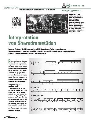 Interpretation von Snaredrumetüden