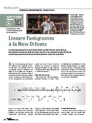 Lineare Funkgrooves à la New Orleans