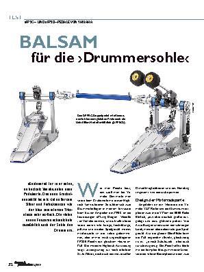 BALSAM für die ›Drummersohle‹
