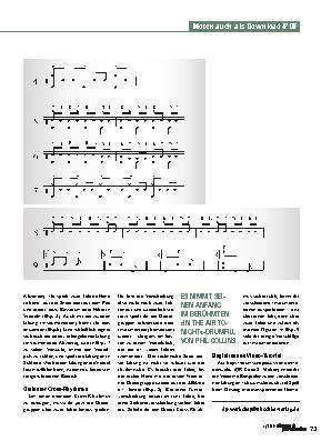 Rhythmen über Kreuz