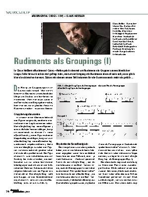 Rudiments als Groupings (I)