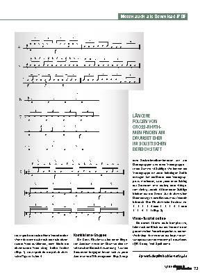 Cross-Rhythmen auf Sechzehntelbasis