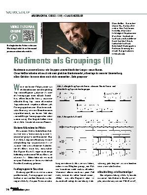 Rudiments als Groupings (II)