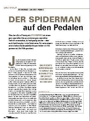 DER SPIDERMAN auf den Pedalen