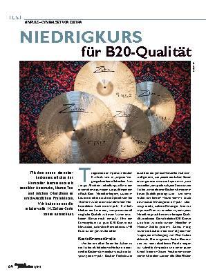 NIEDRIGKURS für B20-Qualität