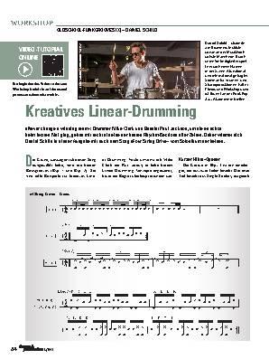 Kreatives Linear-Drumming