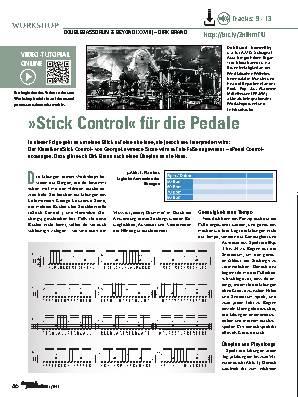»Stick Control« für die Pedale