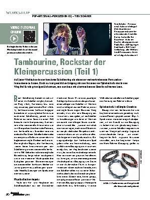 Tambourine, Rockstar der Kleinpercussion (Teil 1)