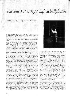 Puccinis Opern auf Schallplatten