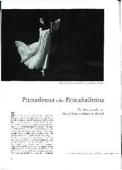 Primadonna oder Primaballerina