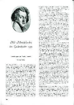 Mit Mendelssohn ins Gedenkjahr 1959