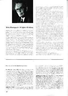 Otto Klemperer dirigiert Brahms
