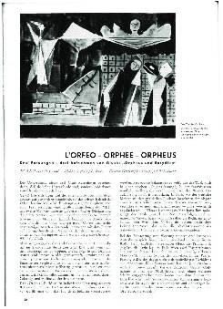 L'orfeo - Orphee - Orpheus