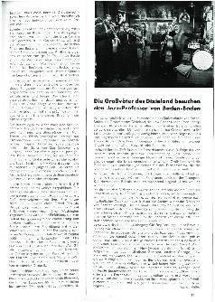 Die Großväter des Dixieland besuchen den Jazz-Professor von Baden-Baden
