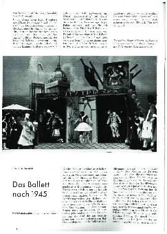 Das Ballett nach 1945