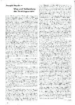 Joseph Haydn - Weg und Vollendung des Streichquartetts