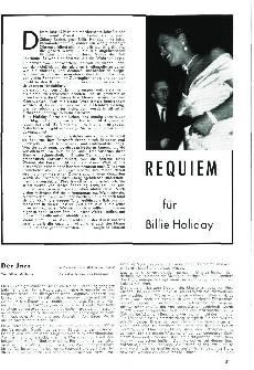Requiem für Billie Holiday