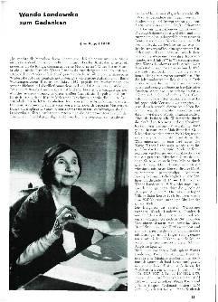 Wanda Landowska zum Gedenken