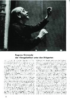 Eugene Ormandy der Klangplastiker unter den Dirigenten