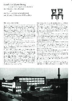 Festliche Einweihung des wiederaufgebauten Werkes der Electrola Gesellschaft und der Carl Lindström Gesellschaft am 16. und 17. Oktober 1959 in Köln