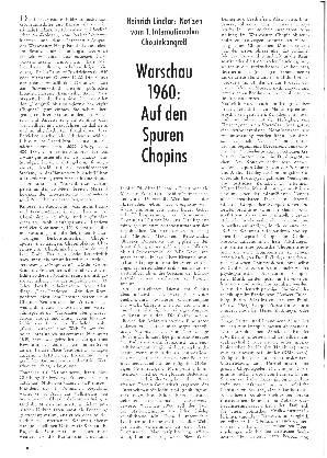 Warschau 1960: Auf den Spuren Chopin