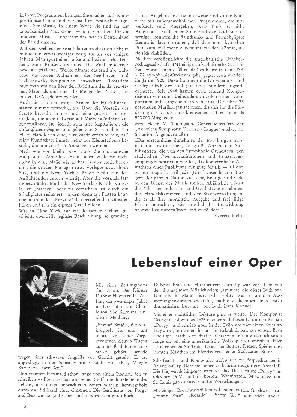 Lebenslauf einer Oper