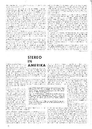 Stereo in Amerika