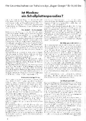 Die Gesamtaufnahme von Tschaikowskys Eugen Onegin für 16,60 DM