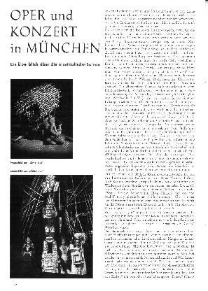 Oper und Konzert in München