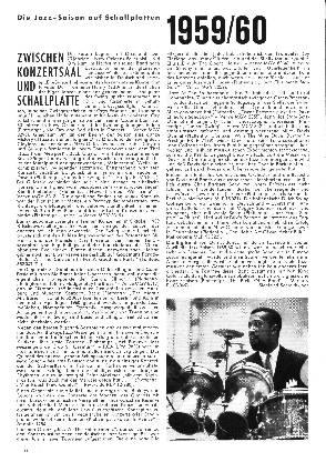 Die Jazz-Saison auf Schallplatten 1959/1960