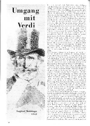 Umgang mit Verdi (2.Teil)