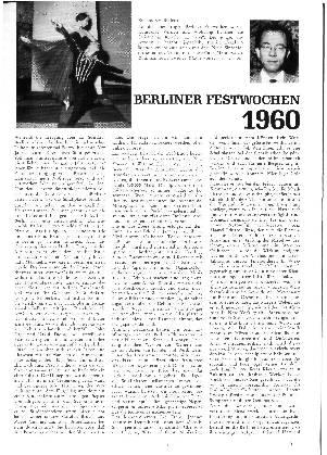 Berliner Festwochen 1960