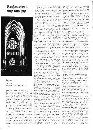 Kirchenlieder einst und jetzt