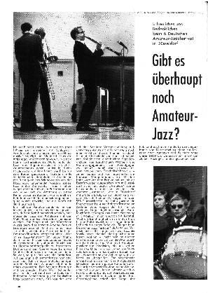 Gibt es überhaupt noch Amateur-Jazz?