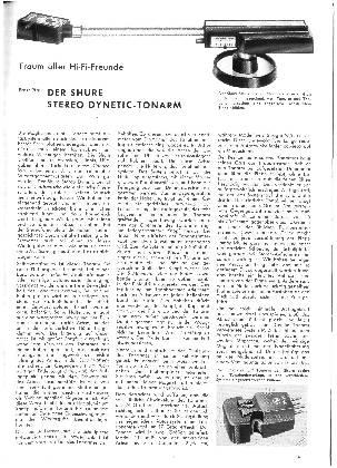 Der Shure Stereo Dynetic-Tonarm
