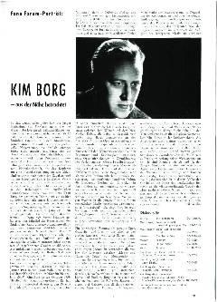 Kim Borg - aus der Nähe betrachtet
