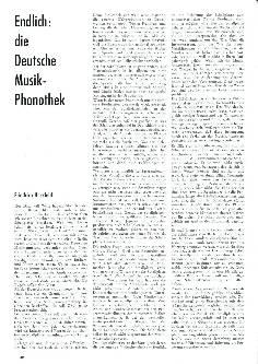 Endlich: Die Deutsche Musik-Phonothek