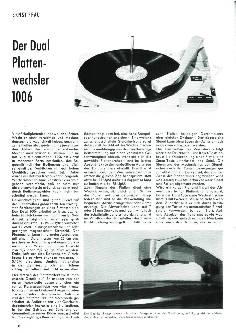 Der Dual Plattenwechsler 1006