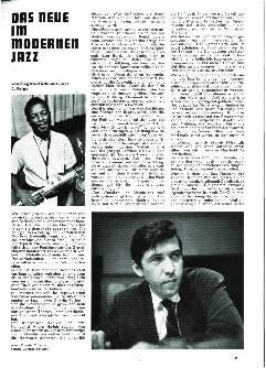 Das Neue im modernen Jazz