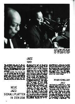 Neue Jazz-Schallplatten in den USA
