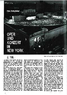 Oper und Konzert in New York