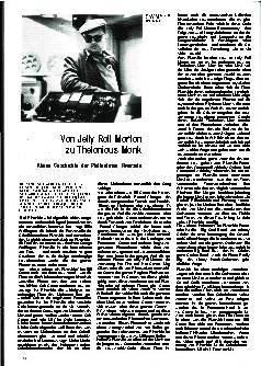 Von Jelly Roll Morton zu Thelonious Monk
